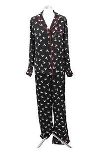 38 DKNY Schlafanzug Damen Pyjama-Sets M Schwarz Pyjama Nachtwäsche NEU