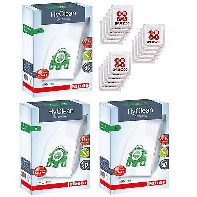 4 x MIELE S7510 S7580 Type U 3D HyClean Vacuum Hoover Bags /& Filter Kit Fresh