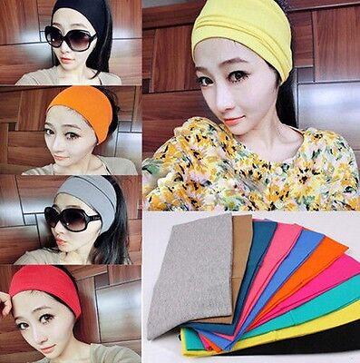 FD518 Women Wide Yoga Headband Stretch Hairband Hair Bands Turban Dance Hoop 1pc
