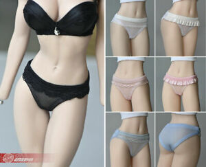 1//6 Scale Female Briefs Underwear Lingerie Thong for 12/'/' Figure Body White