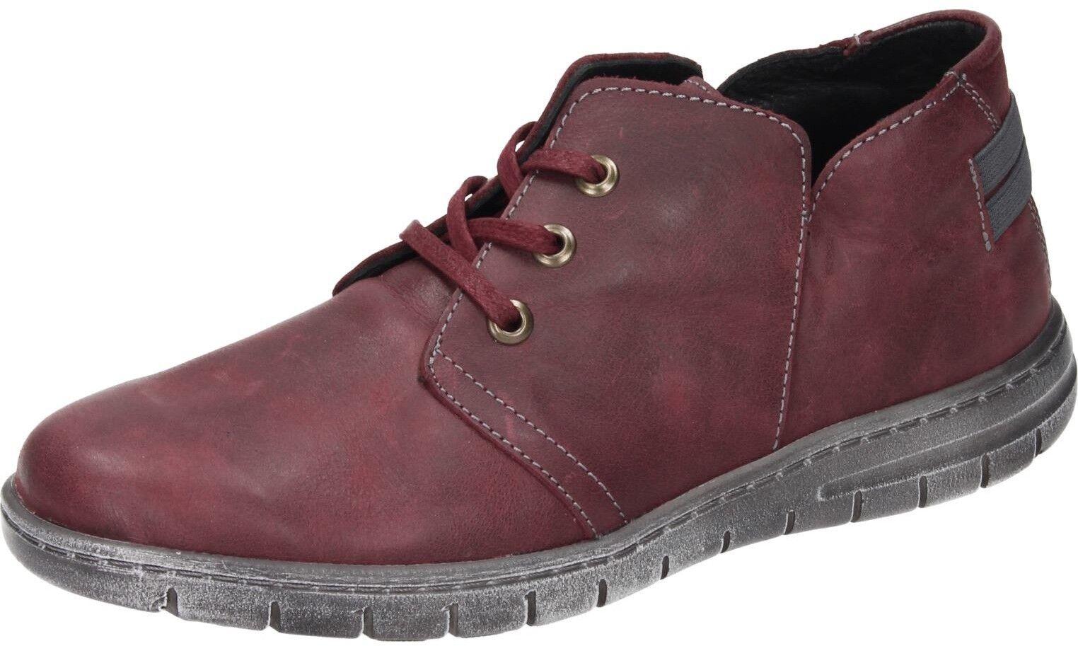 Comfortabel Damen Schuhe Damen-Stiefelette rot Leder 991243