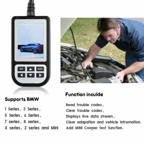 BMW C110 CANBUS Diagnostic Scanner OBD2 Airbag ABS Engine 1 3 5 ...