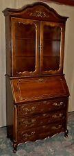 JASPER FRENCH STYLE SECRETARY Desk With Cabinet VINTAGE #8270