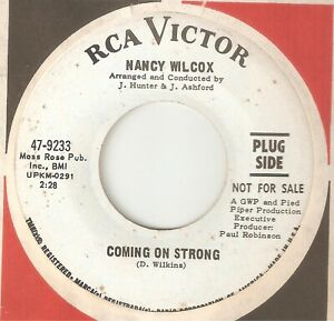 NANCY WILCOX My Baby Coming On Strong RCA PROMO DETROIT NORTHERN SOUL USA 45