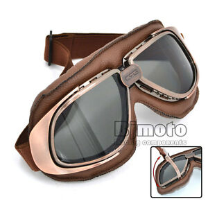 Retro-Vintage-Aviator-Pilot-Motorcycle-Cruiser-Scooter-Biker-Goggles-For-Harley