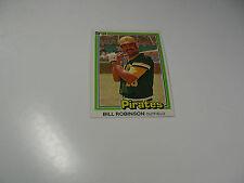 Bill Robinson 1981 Donruss card #137