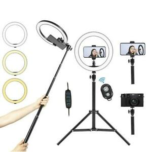 All New for 2021 - 10 LED Ring Light with Tripod Stand / Removable Selfie Stick Canada Preview