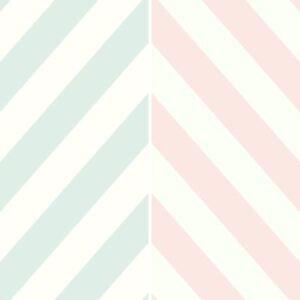 Image Is Loading Holden Chevron Striped Pattern Childrens Wallpaper Pastel Stripes