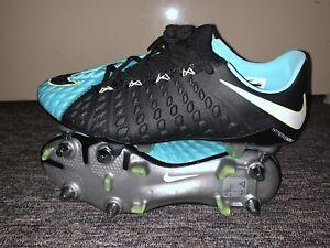 NWT Women s Nike Hypervenom SG-PRO Soccer Cleats Black Green ... 016841543