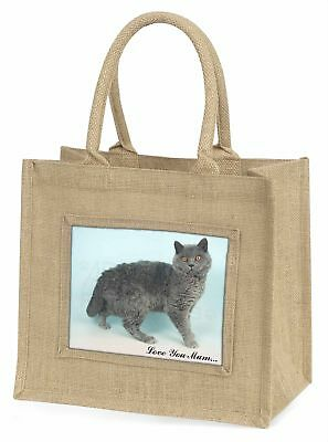 Selkirk Rex Katze' Liebe, die sie Mama 'Große natürliche jute-einkaufstasche Chr