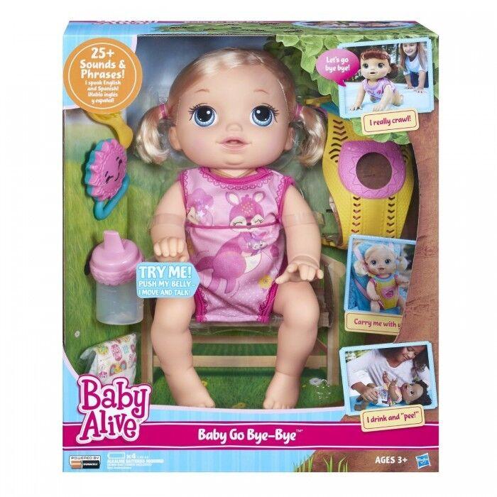 Baby Alive Doll Baby Alive Baby Go Bye Bye (Blonde) Talks English & Spanish