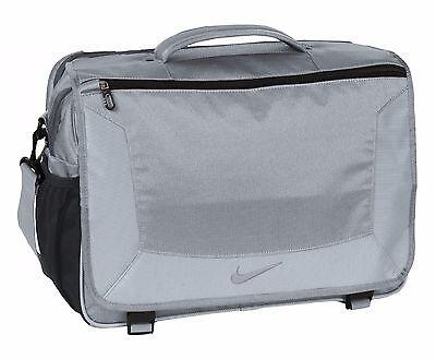 "Nike Golf Elite Premium 15"" Laptop / MacBook Pro Business Messenger Bag Gray New"