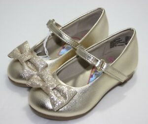 b66aecc9bf6346 Disney Princess Dress Shoes Red Gold with glitter bows   low wedge ...