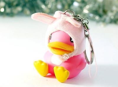SET of 8 SEMK B.DUCK Rubble Duck Cosplay Animals Keychain Keyring Phone Strap