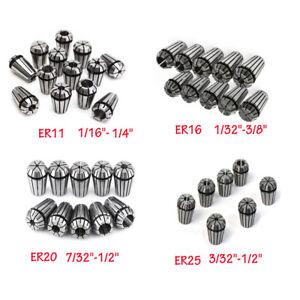 ER11 ER16 ER20 ER25 ER32 Spring Collet Sets CNC Milling Machine Lathe Tools Kits