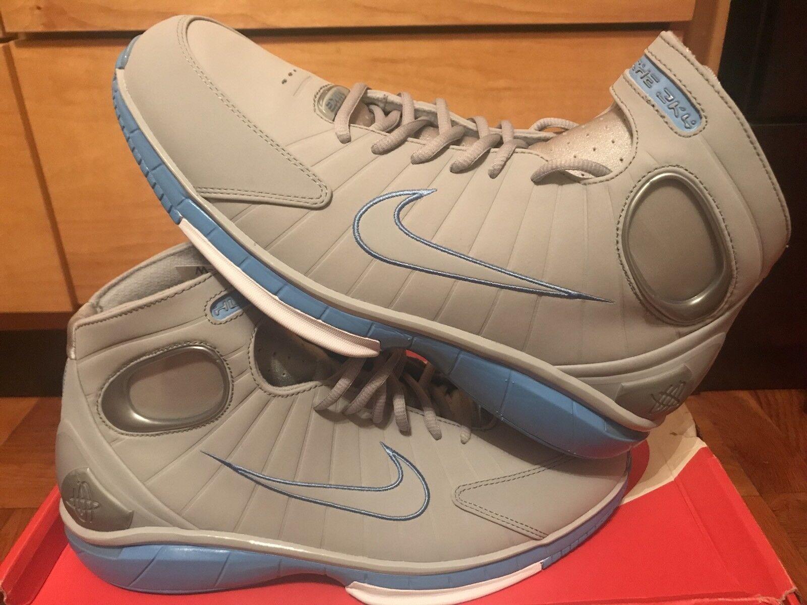 Nike Zoom Huarache 2k4 Kobe Mens Size 9.5 10.5 12 Shoes Wolf Grey 308475 002