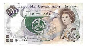 10 pounds Isle of Man banknoteND19982000 P44b  10 note Isle of Man - Pangbourne, United Kingdom - 10 pounds Isle of Man banknoteND19982000 P44b  10 note Isle of Man - Pangbourne, United Kingdom