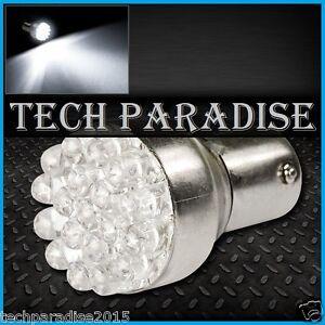 1x-Ampoule-19-LED-Bulb-Blanc-White-feux-stop-P21W-BAY15D-1157-R5W-12V