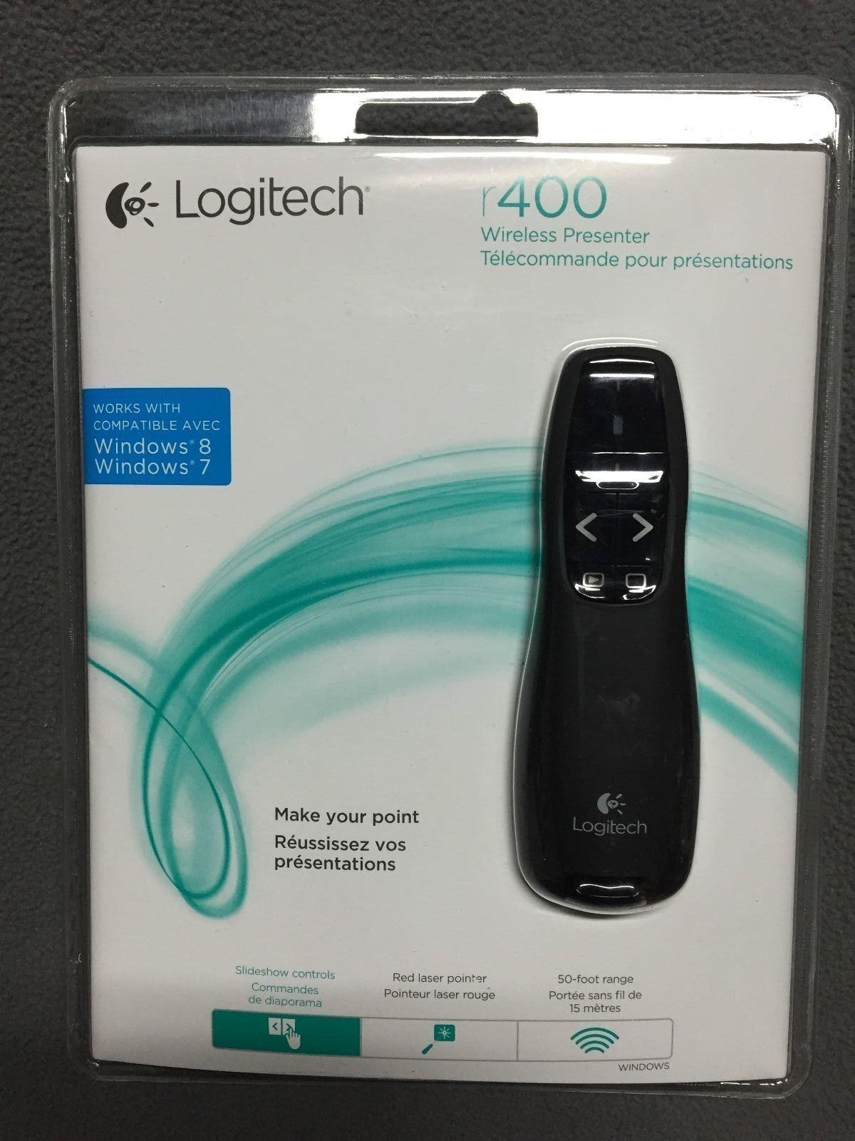logitech wireless presenter r400 manual