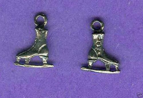 100 wholesale lead free pewter figure skate charms 1095