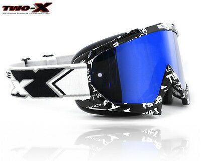 TWO-X Race Mirror ICE Brille - Downhill Freeride MTB Enduro MX - TEXT black
