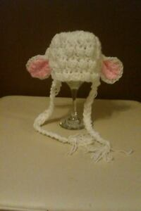 8536ff8ba2a Image is loading Newborn-crochet-Lamb-sheep-Bonnet-photo-prop-baby-
