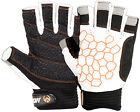 New Sailing Gloves Short Fingers Yachting Kayak Dinghy Fishing Glove Back White