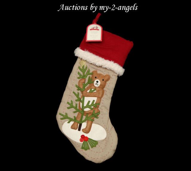 Pottery Barn Kids Woodland White Doves Bird Christmas Stocking Mono Walter For Sale Online Ebay