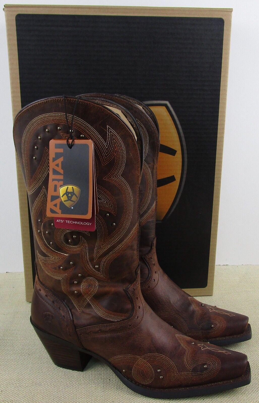 Ariat 10014134 MUJER Spellbound Cuero Marrón botas Cowboy Nuevo en Caja