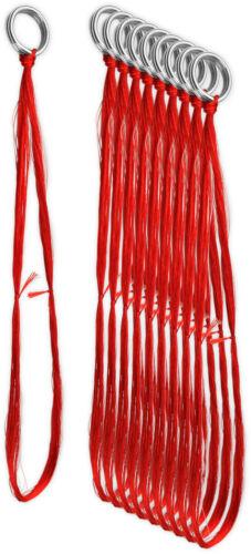 10-30 Stück Hornhecht Seidenfäden mit Springring zur Montage an Blinkern