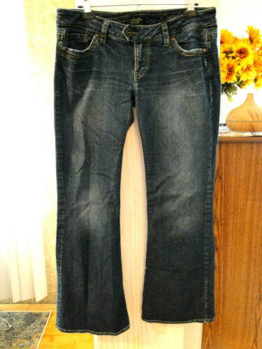 "SILVER JEANS TUESDAY 20"" Size 34/31 Actual 34/29 3"