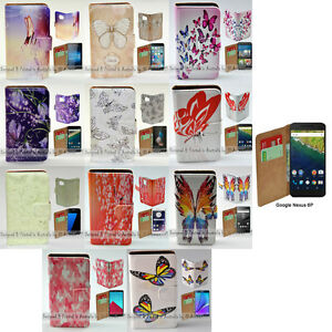 For Google Pixel Series Mobile Phone - Butterflies Print Flip Case Phone Cover