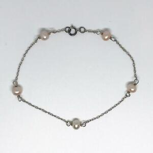 Jewelry & Watches Audacious Sterling Silver .925 Faux Pearl Bracelet