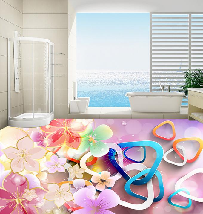 3D Farbe Petal Art 5 Floor WallPaper Murals Wall Print Decal AJ WALLPAPER Summer