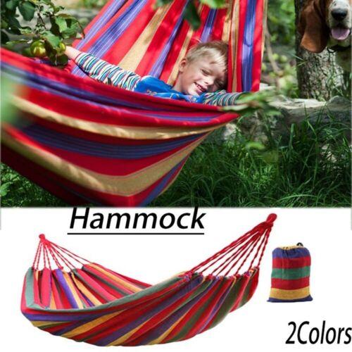 Garden Hammock Portable 2 Person Outdoor Hammock Hiking Camping Sleeping Bag j