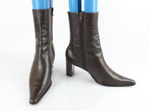 2019 meilleurs juste prix super pas cher se compare à Details about Jonak Boots all Leather Brown UK 6,5 / en 40