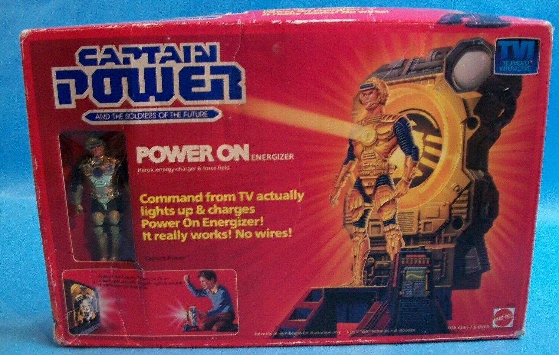1987 Captain energia energia On Energizer Charger Mattel azione Set