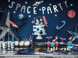 Swell Outer Space Birthday Party Banner Space Party Ebay Funny Birthday Cards Online Sheoxdamsfinfo