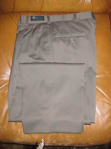Austin Reed Marlane Super 100 S Olive Pleated Dress Trouser 33 X 30 Nos Ebay