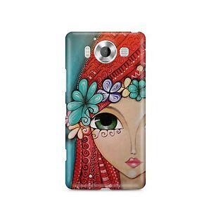 Chica-Arte-Rojo-Cabeza-Escoces-Princesa-Funda-de-Telefono-Labios