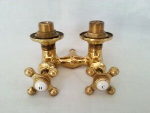 Image Is Loading Solid Brass 2 Handles Cross Faucet Bathtub Shower