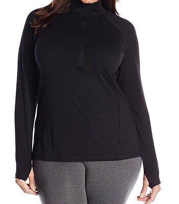 Activewear *new Womens Plus Black Ruched Long Sleeve Pullover Lightweight Jacket Size 20/22 Drip-Dry