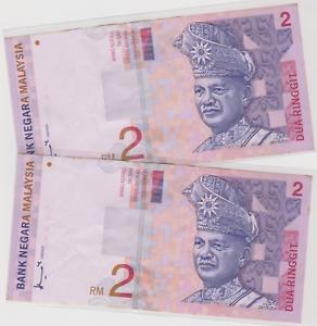 Mazuma *M876 Malaysia 8th $2 CM830573-574 2 Running GEF