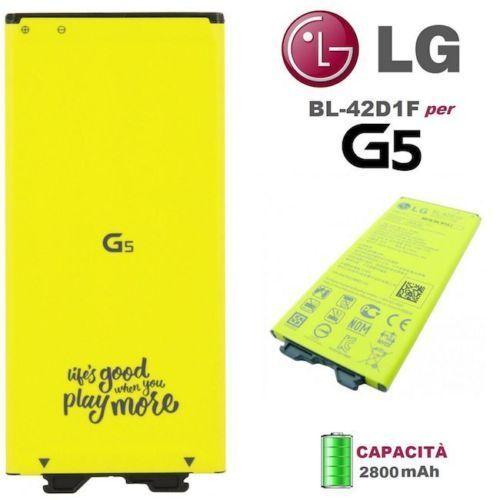 Batteria ORIGINALE Per LG G5 H850 BL-42D1F 2800mAh 3.85V Nuova Ricambio Li-Ion