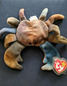 RARE-CLAUDE-THE-CRAB-PVC-1996-Ty-Beanie-Baby-Canadian-CustomsTush-4083