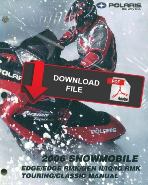 Polaris 2006 600 Edge Touring Snowmobile Service Manual