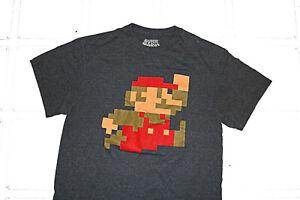 Super-Mario-Bros-T-Shirt-Dark-Gray-Size-Medium-Tee