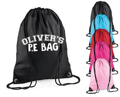 Personalised Name P.E Bag Gym Kids Bag Sports Bag Girls Bags Back to School