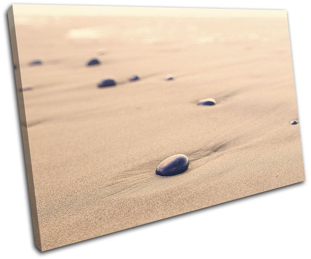 Pebbles Beach Sunset Landscapes SINGLE TELA parete parete parete arte foto stampa 1ac220