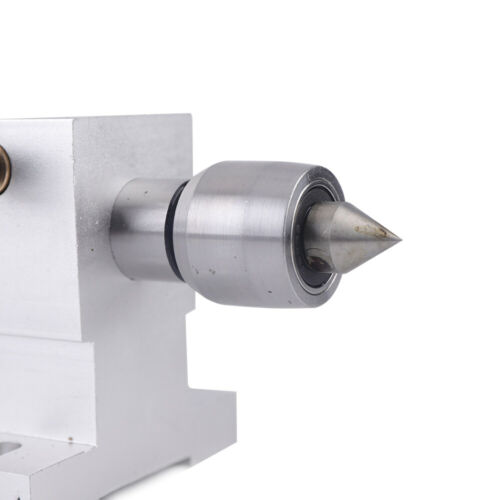 4th Axis Chuck Tailstock For CNC Rotary Machines Axial 65mm Metalworking US NEW